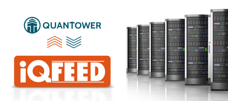 Quantower connected to DTN IQFeed data provider