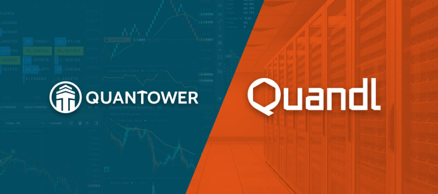 Quantower connected to Quandl data provider