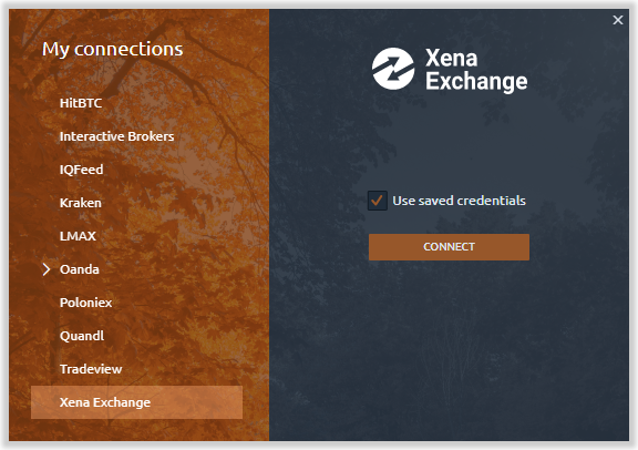 Connection to Xena Exchange