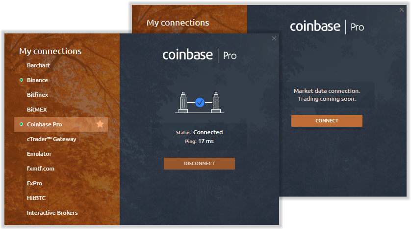 Coinbase Pro is available in Quantower for charting & analytics