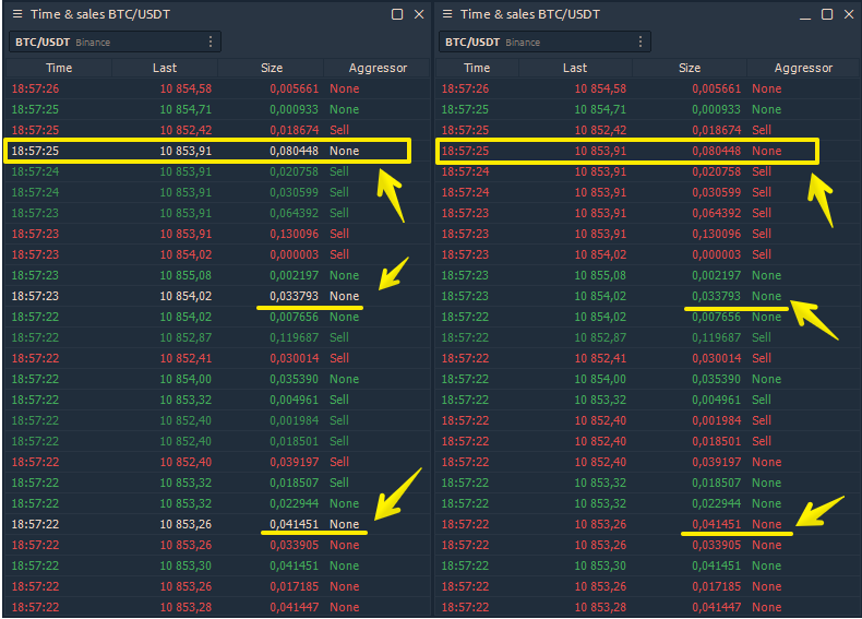 Changed the calculation of tick direction on Binance