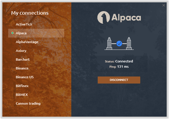 Trade with Alpaca Market via Quantower platform