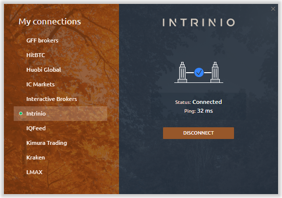 Connection to Intrinio via Quantower platform